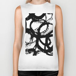 Dance Black and White Biker Tank