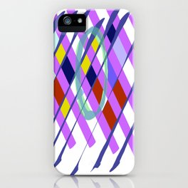 Abstract Checkboard iPhone Case