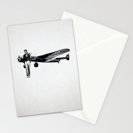 Amelia Earhart with her Airplane Stationery Cards