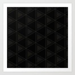 Modern Black Triangle Pattern Art Print