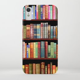 Book Lovers Gifts, Antique bookshelf iPhone Case