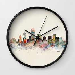 dallas skyline Wall Clock