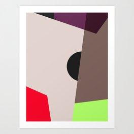 Modern Vintage Minimal Inspired Geometric Colorfield Art Print Art Print