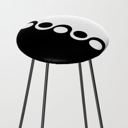 Black and White Mod Counter Stool
