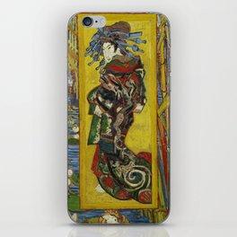 1887-Vincent van Gogh-Courtesan, after Eisen-60 x 105 iPhone Skin