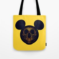 mickey Tote Bags featuring Mickey by nicebleed
