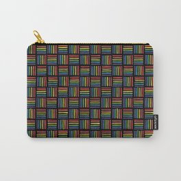Rainbow Pattern: Black background Carry-All Pouch