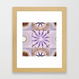 Faience Entity Flowers  ID:16165-051910-13480 Framed Art Print