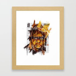Biggie Digital Painting Framed Art Print