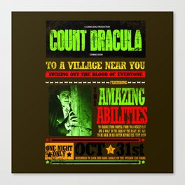wanted poster Dracula Canvas Print