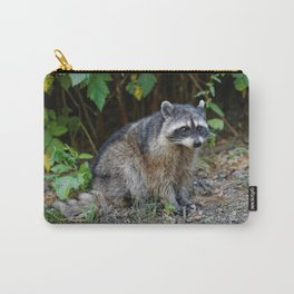 Diurnal Raccoon Poses on the Gravel Carry-All Pouch
