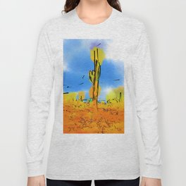 Lone Saguaro Cactus Long Sleeve T-shirt