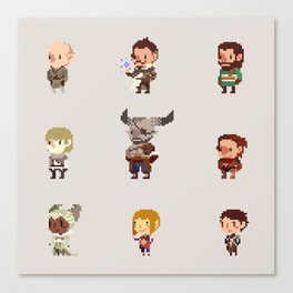 Dragon Age Inquisition: Companions Canvas Print