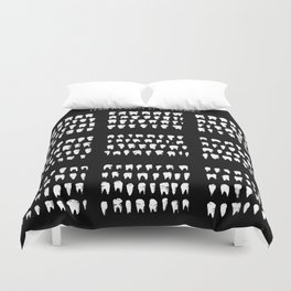 A Collection of Teeth Duvet Cover