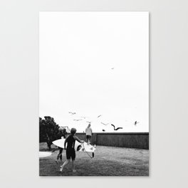 Seagulls at Sumner Canvas Print