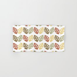Retro Leaves Pattern Hand & Bath Towel