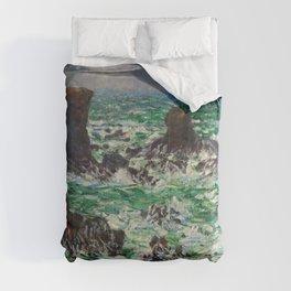 """Claude Monet """"Port Coton: Le Lion"""" Comforters"""
