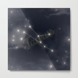 Taurus Constellation - Zodiac Metal Print