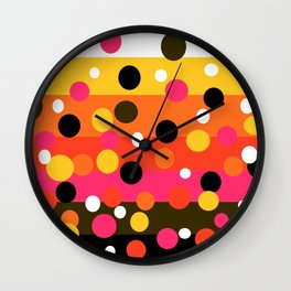 Earth and Summer Sky - Color Strips with Circles Wall Clock