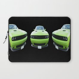 Green Dodge Challenger Laptop Sleeve
