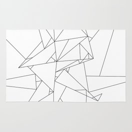 Abstract Origami Rug