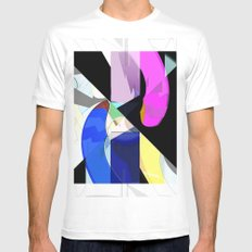 Abstract 2017 019 White Mens Fitted Tee MEDIUM