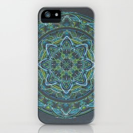 Blue and Green Mandala iPhone Case