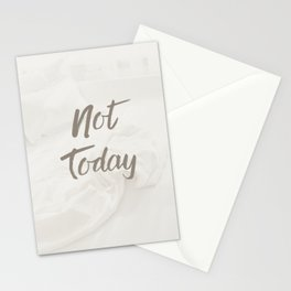 Not Today Pastel Colors Boho Art Print | Typography Design Stationery Cards