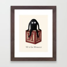 M is for Monster Framed Art Print