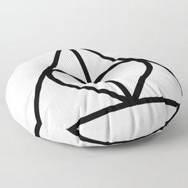 The Deathly Hallows - Heart Floor Pillow