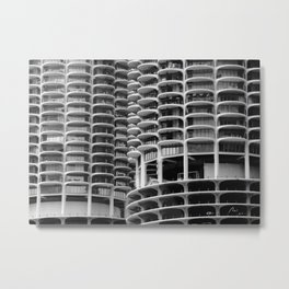 Chicago Marina City Metal Print