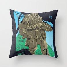 Robotic Warfighter MK.5D (devGrob) Throw Pillow