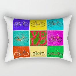 Velo Love – 8 Bikes PoP - June 12th – 200th Birthday of the Bicycle Rectangular Pillow
