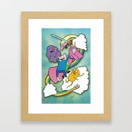 Finn Jake and Friends Framed Art Print