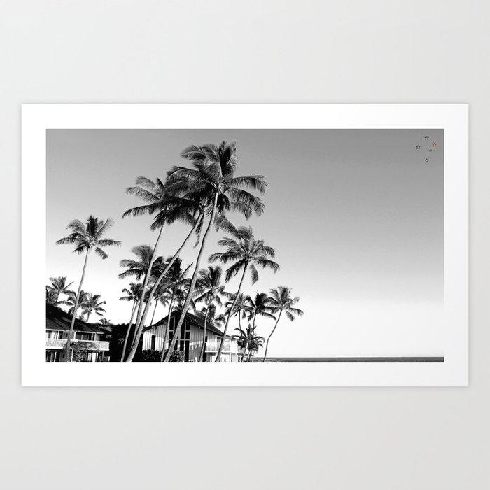 Palm Trees Poipu Art Print