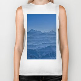 Blue Hima-layers Biker Tank