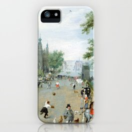 Adriaen van de Venne A Jeu de Paume Before a Country Palace iPhone Case