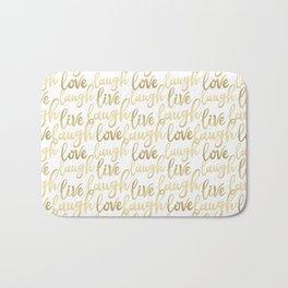 Live Laugh Love II Bath Mat