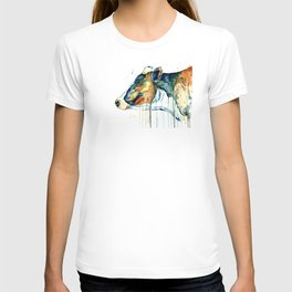 Dairy Cow - Feeling Blue - Watercolor Painting T-shirt