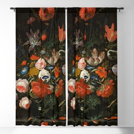 """Abraham Mignon """"Flowers in a Glass Vase"""" 1670 Blackout Curtain"""