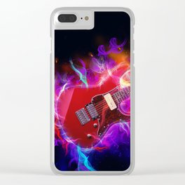 Electric Guitar Art Clear iPhone Case