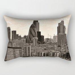 London Skyline Cityscape England Rectangular Pillow