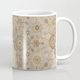 Antique Persian Floral Medallion Vector Painting Coffee Mug