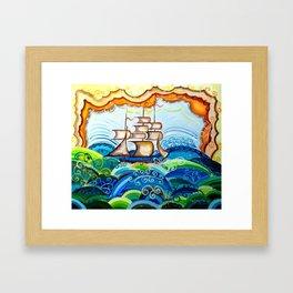 Flying Ship Framed Art Print