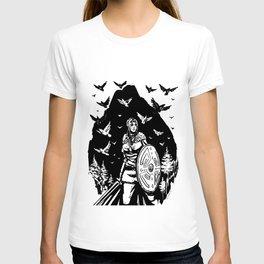 Shield Maiden of Ravens T-shirt
