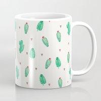 cactus Mugs featuring CACTUS by Ceren Aksu Dikenci