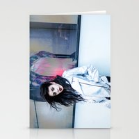 charli xcx Stationery Cards featuring Charli XCX by behindthenoise