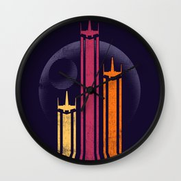 Retro-Galactic Wall Clock
