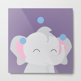 Juggling - Elephant Metal Print