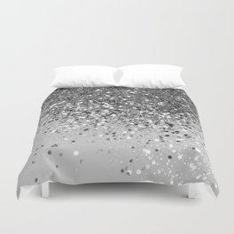 Soft Silver Gray Glitter #1 (Faux Glitter - Photography) #shiny #decor #art #society6 Duvet Cover